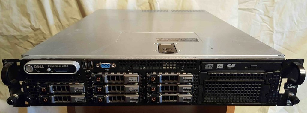 Dell PowerEdge Server 2950 Serial Number 7JR8BK1