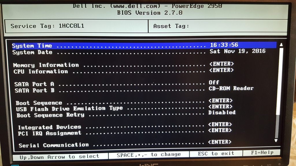 Dell PowerEdge Server 2950 Serial number 1HCC0L1